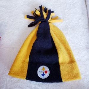 NFL Game Day Fringed Steelers Beanie
